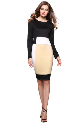Geometric Pattern Stretch Party Pencil Dress-DL-JetSet