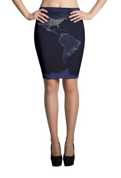 The Earth Pencil Skirt-JetSet-JetSet