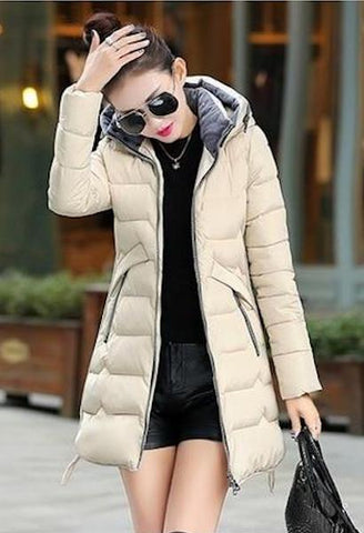 Fitaylor 2019 Plus Size 6xl 7xl Cotton Coat Long Winter Jacket Parka Women Thick Slim Long Warm Hooded Padded Parkas Female-JetSet-JetSet