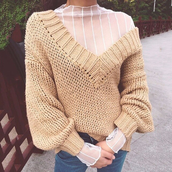 CHICEVER Mesh Lace Sexy T Shirt Womens Stand Collar Hollow Out Basic Transparent Pullover T Shirts Tops 2020 Spring Fashion