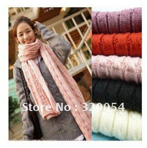Free shipping,2012 new stylish scarf, wool shawl, thickening, mohair knitted scarf,Pink,red, black, beige,Light gray, Wholesale-JetSet-JetSet