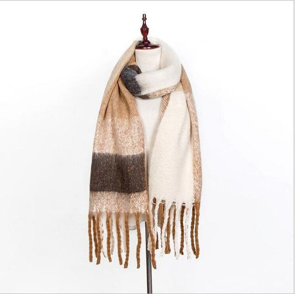 High quality Women Winter Warm Scarfs Spell color Cashmere Scarves New Designer Fashion Basic Shawls Women's Scarves-JetSet-JetSet