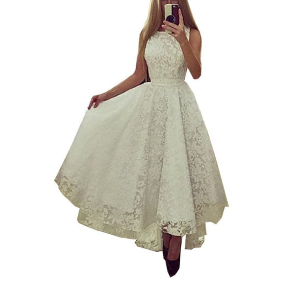Elegant Women Summer Sleeveless Lace Dress Formal Party Long Maxi Ball Gown Dress Wedding Bridemaid Gown Dress-JetSet-JetSet