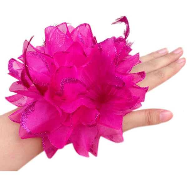 New Arrival Summer Style Hair Accessories Flower Elastic Head Rope Wrist Cuff Wedding Bridal Corsage-JetSet-JetSet