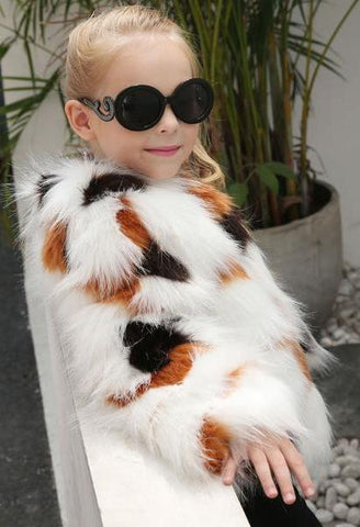 Newest fashion Kids Baby Girls Autumn Winter Faux Fur Coat Jacket Thick Warm Outwear Clothes trench coats for girls cute casaco-JetSet-JetSet