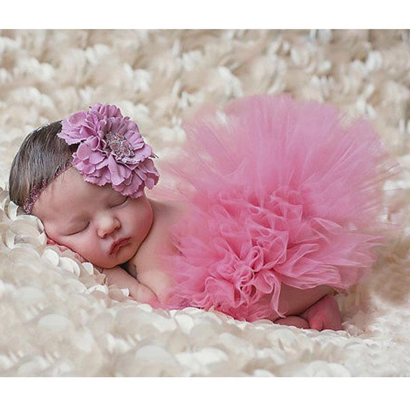 Baby newborn photography props photo props for baby photography accessories pink tutu skirts set children