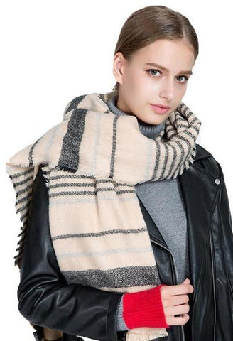 195*90cm Women Long Scarf 2017 Fashion New Design Winter Warm Pashmina Casual Striped Shawl Soft Cashmere Scarf Neck foulard-JetSet-JetSet