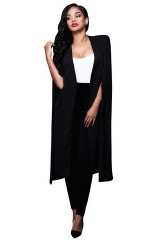 High Quality Lady Elegant and Comfortable Cardigan Long Sleeves Loose Wild Cloak Shawl Workplace Temperament Jacket-JetSet-JetSet