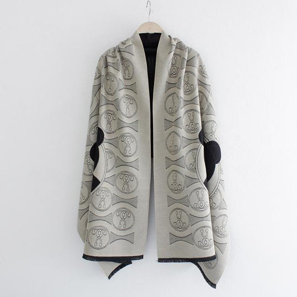 New winter female imitation cashmere shawl air - conditioning warm autumn and winter fashion scarves-JetSet-JetSet