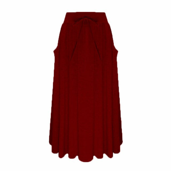 ZANZEA 2018 Summer Style Women Long Skirt Ladies Elastic High Waist Pockets Loose Pleated Mid-calf Skirts Casual Faldas Saia-JetSet-JetSet