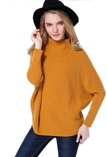 Cashmere Sweater 2018 Autumn Winter Women 100% Pure Cashmere Batwing Sleeve Patchwork Casual Thicken Sweaters Pullovers-JetSet-JetSet