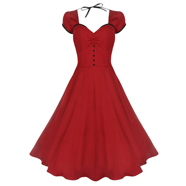 Red Polyester Dress for Women