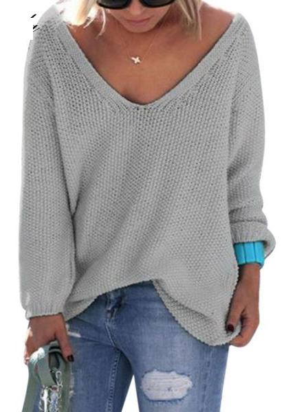 FANALA Women Poncho Sweater Ladies Knitted Pullover Sweater Casual Solid Winter Dresses Fashion Female Knitwear Cotton Outerwear-JetSet-JetSet