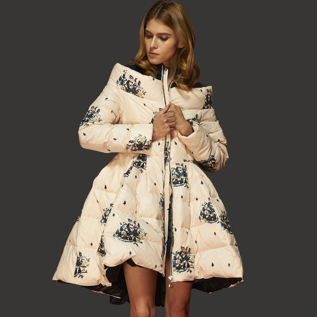 132c78b97 designer clothes flower print plus size women jacket women's coat winter  jacket skirt women coat luxury