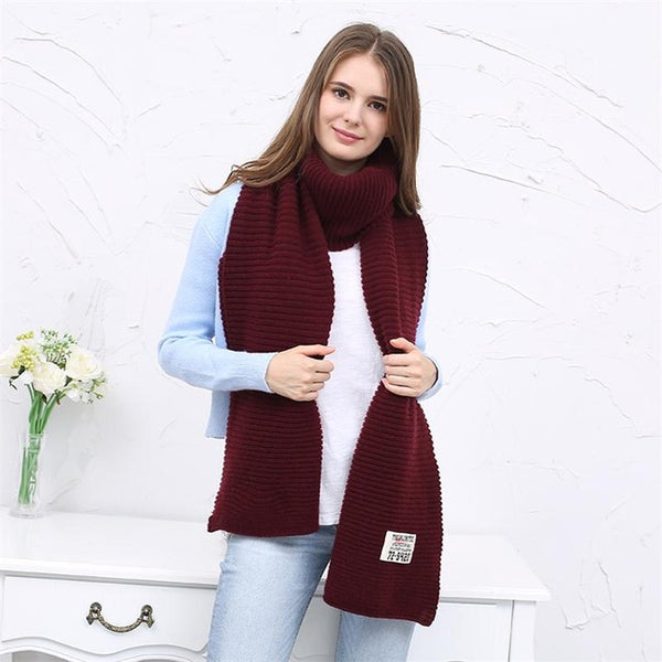 [FEILEDIS]women winter scarves and wraps red cashmere knitted scarf for women large big scarf FD197-JetSet-JetSet