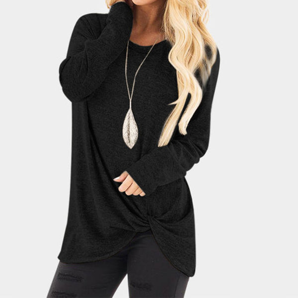 2018 ZANZEA Women Vintage O Neck Long Sleeve Flod Solid Loose Brief Top Casual Blouse Basic Black Pleated Party Shirt Plus Size-JetSet-JetSet