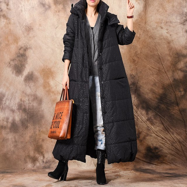 Johnature Winter Parkas Hooded Solid Color Coats Vintage Button Plus Size Women Cloths =Winter New Warm Casual Women Parkas-JetSet-JetSet