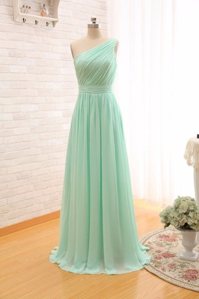 2019 Long Cheap Mint Green Bridesmaid Dresses Under 50 Floor Length Chiffon a-Line Vestido De Madrinha De Casamento Longo-JetSet-JetSet