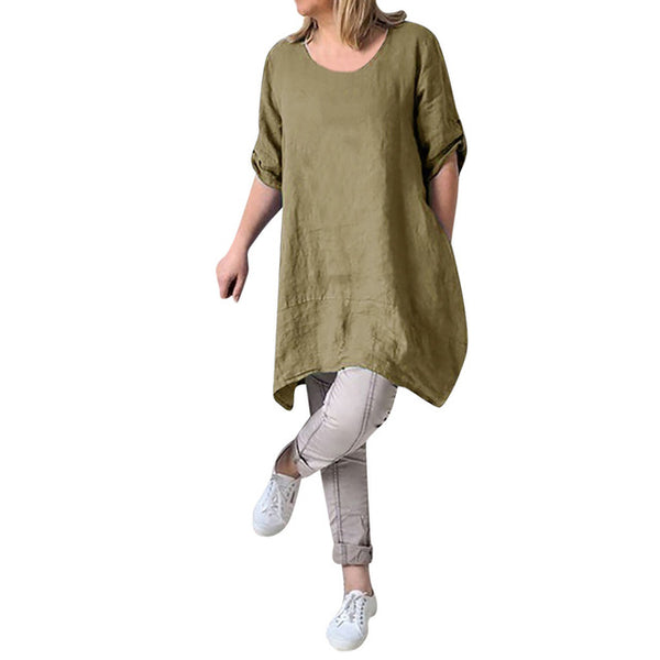 vestidos verano 2019 Women Summer Style linen dress Feminino Vestido Cotton Casual Plus Size Ladies Dress sukienki damskie-JetSet-JetSet