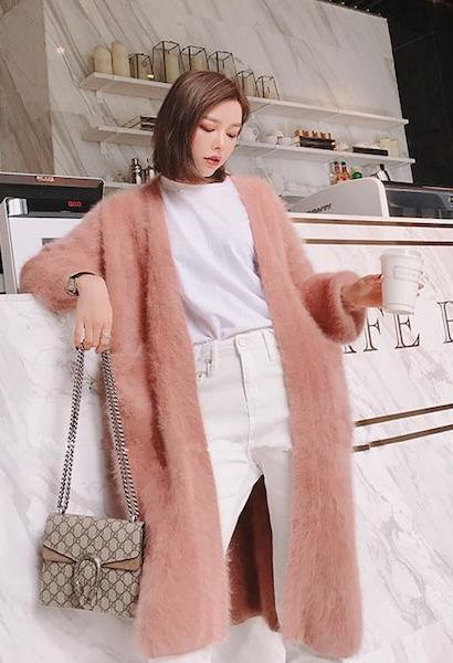 2019 New Winter women mink cashmere cardigan warm soft fluffy any size real nature 100% mink cashmere sweater cardigan-JetSet-JetSet