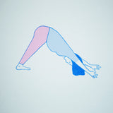 Tiny Tropics silkscreen print yoga downward dog