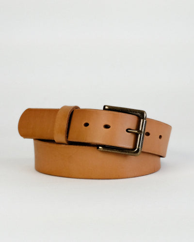 Wickett & Craig Natural Veg Tan leather Daniel belt
