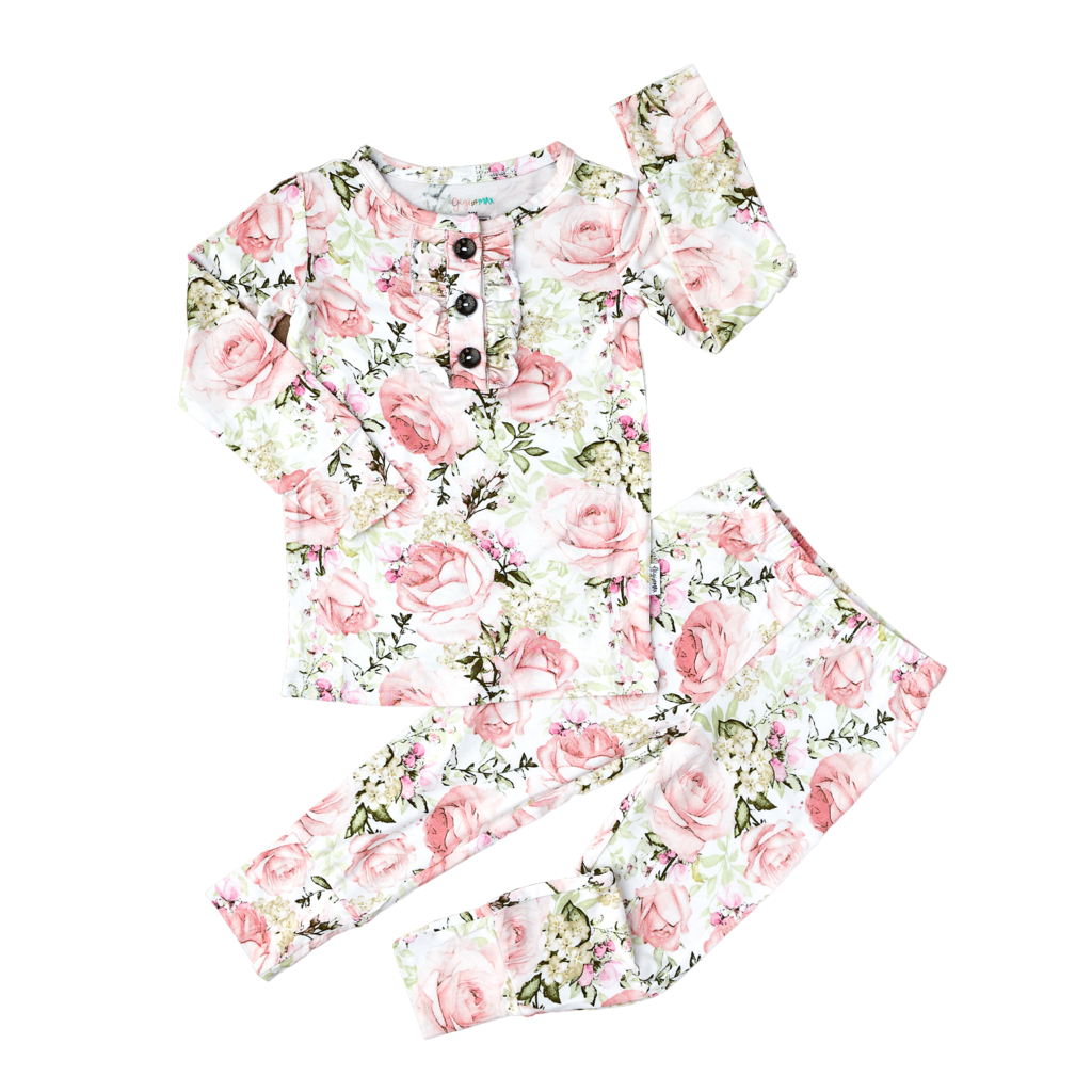 Caroline Floral Ruffle Two Piece