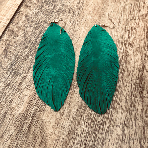 Palm Suede Earrings