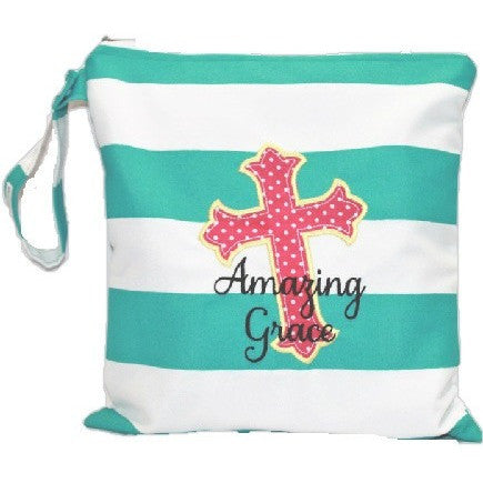 Amazing Grace Embroidered wet bag-Waterproof Bag
