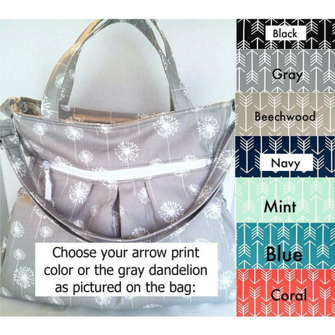 Arrow Print Waterproof Diaper Bag, Many colors available