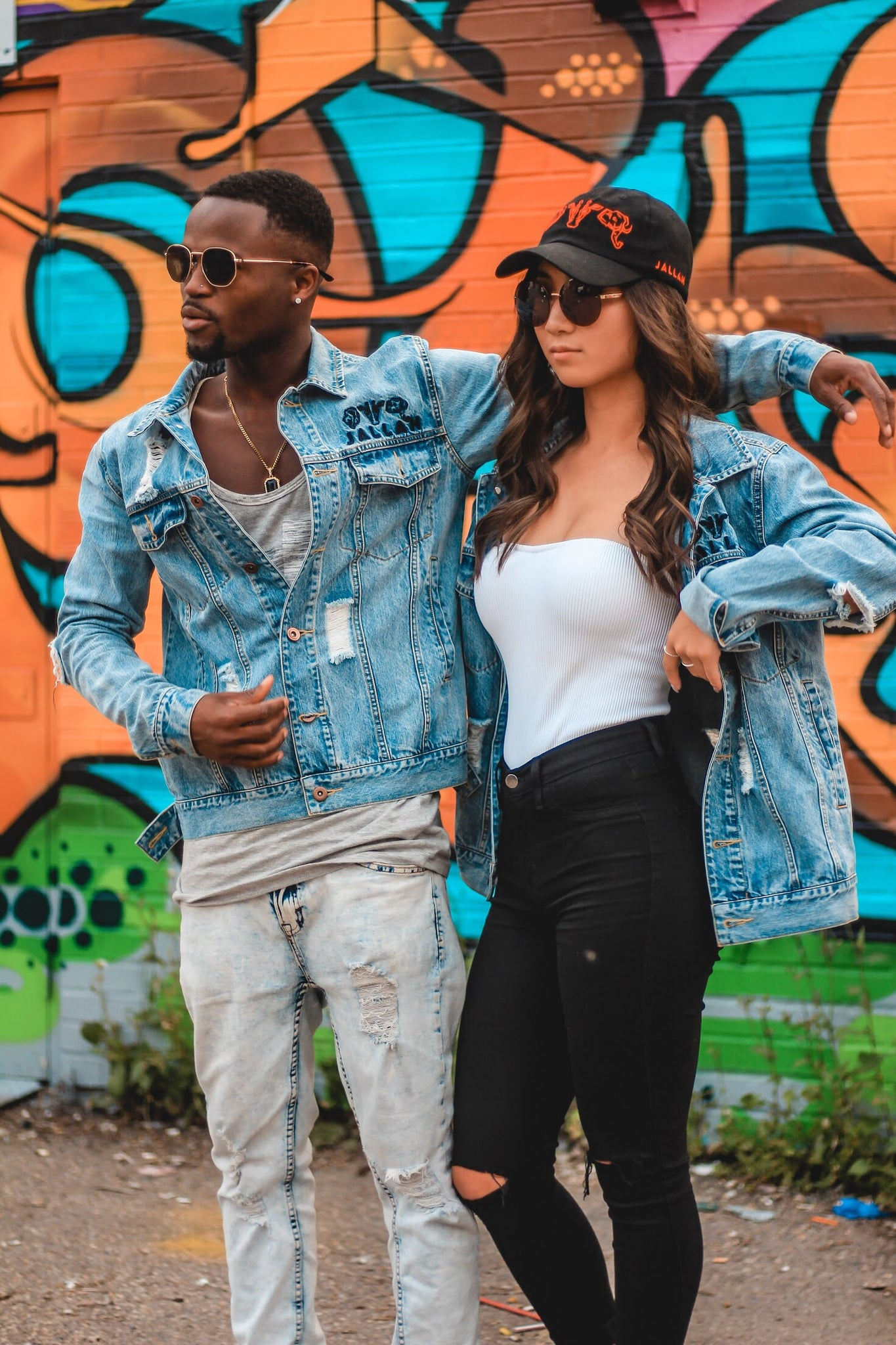 DISTRESSED DENIM JACKETS