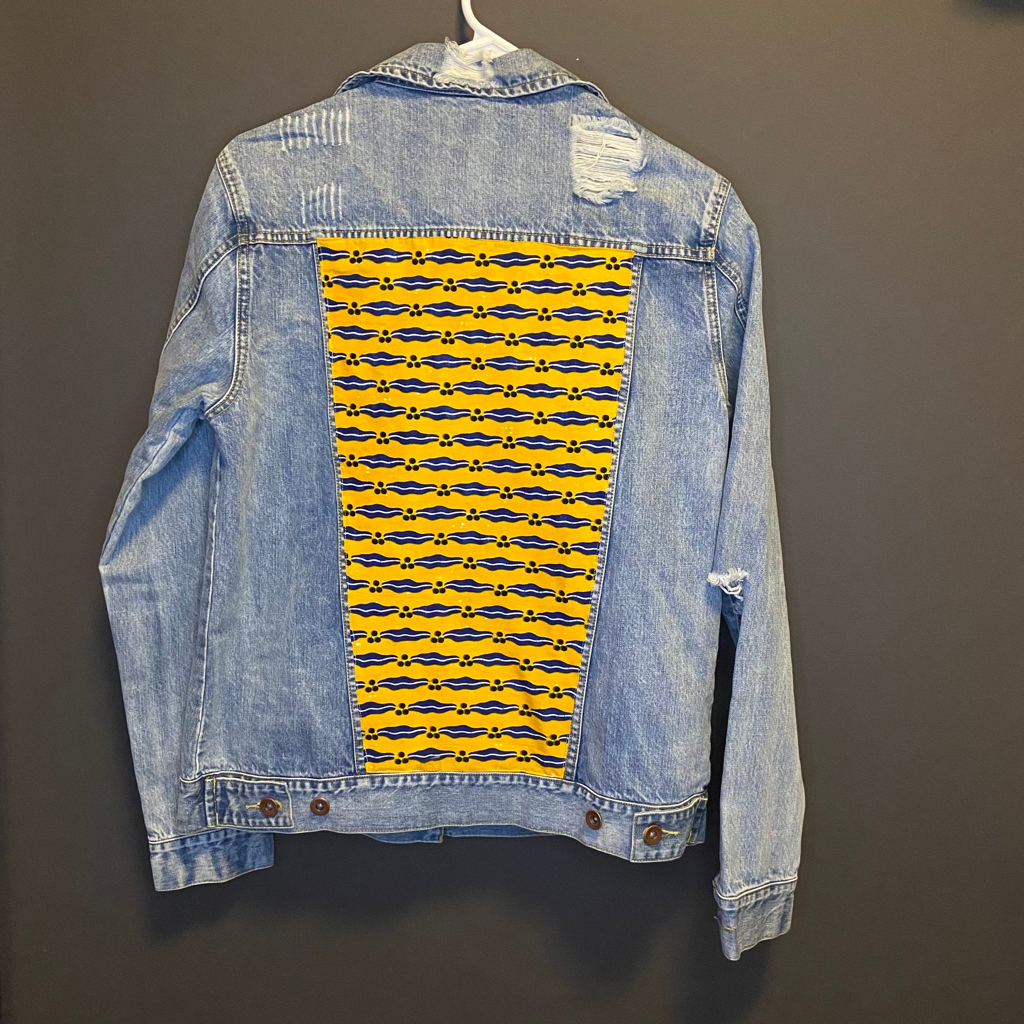 LIMITED EDITION ( African pattern denim jackets )