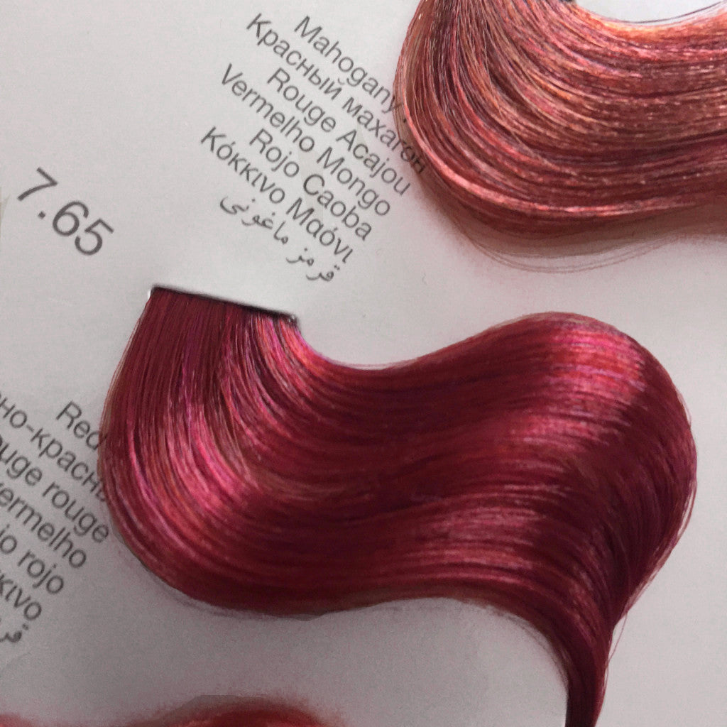 Tempting Professional Color System Mahogany Red 765 Del Ro