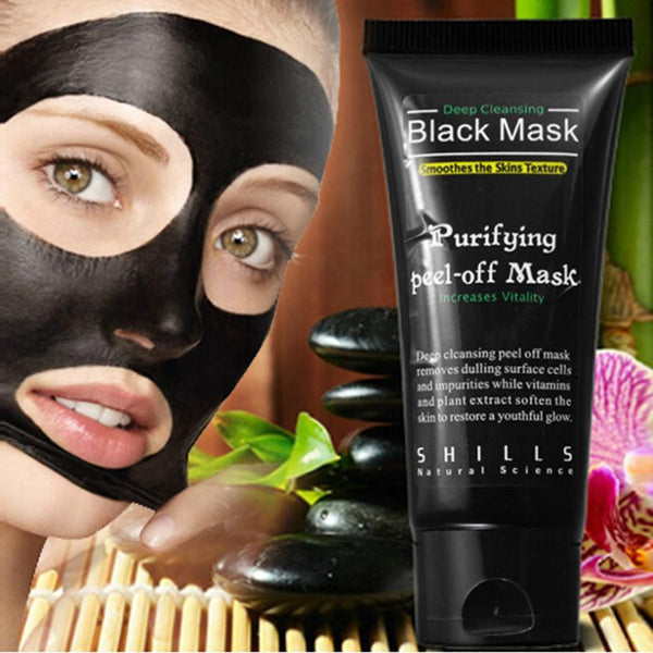black purifying peel off face mask