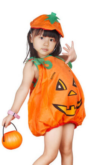 Girls Flannel Halloween Pumpkin Costume - 123 Express Shop - 1