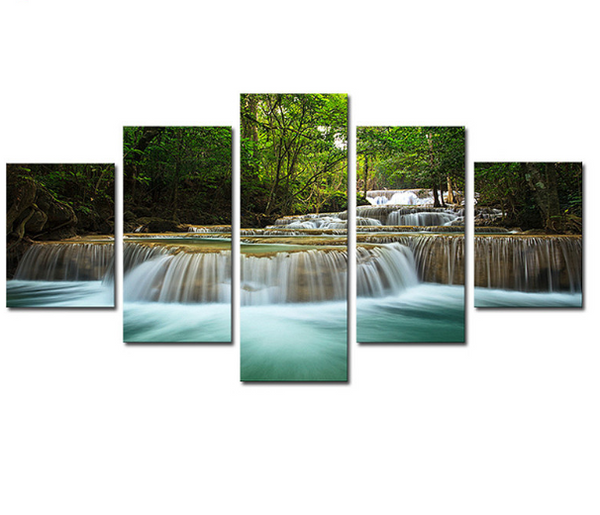 5-piece Abstract Oil Painting Home Decoration Wall Art Forest Theme - 123 Express Shop - 7