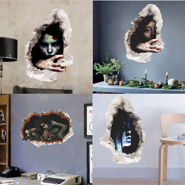 Scary 3D Halloween Wall Stickers - 123 Express Shop - 2