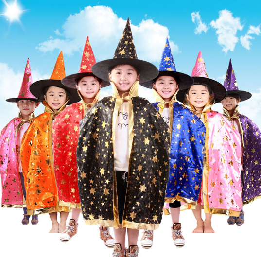 Wizard Cloak Costume - Cloak & Hat Set - 123 Express Shop - 3