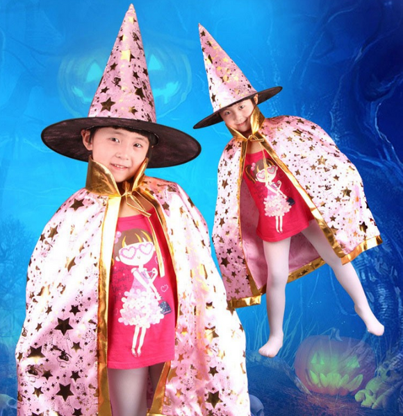 Wizard Cloak Costume - Cloak & Hat Set - 123 Express Shop - 6