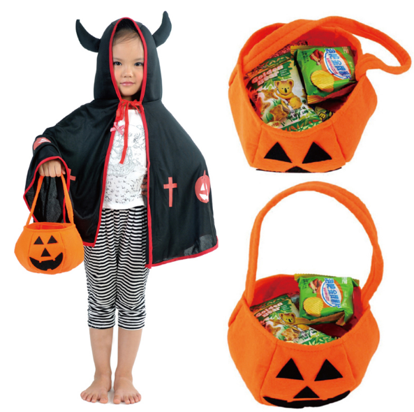 Trick-or-Treat Pumpkin Candy Bag (FREE w/ Any Costume Purchase) - 123 Express Shop - 1