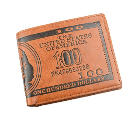 US $100 Bill Leather Wallet (60% Discount-Flash Sale)