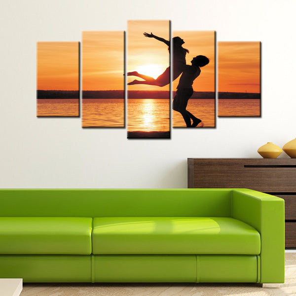 5-piece Abstract Oil Painting Home Decoration Wall Art Love Theme - 123 Express Shop - 8
