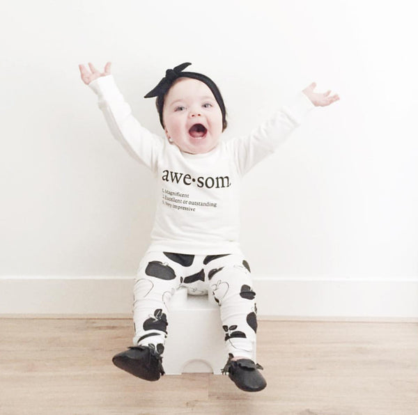 2-pc Long Sleeve Top & Pants Set Awesome Theme- Baby Boys newborn-24m - 123 Express Shop - 1