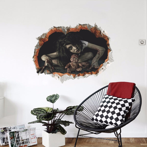 Scary 3D Halloween Wall Stickers - 123 Express Shop - 9