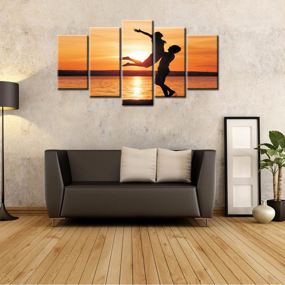 5-piece Abstract Oil Painting Home Decoration Wall Art Love Theme - 123 Express Shop - 5