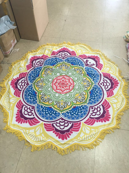 Mandala Beach & Yoga Blanket