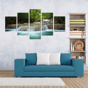 5-piece Abstract Oil Painting Home Decoration Wall Art Forest Theme - 123 Express Shop - 5