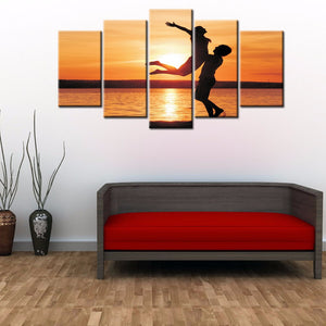 5-piece Abstract Oil Painting Home Decoration Wall Art Love Theme - 123 Express Shop - 4