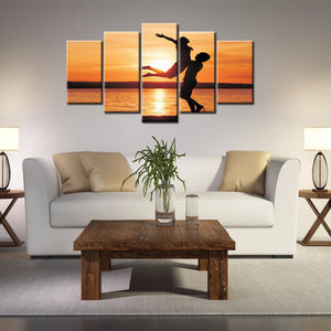 5-piece Abstract Oil Painting Home Decoration Wall Art Love Theme - 123 Express Shop - 1