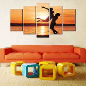 5-piece Abstract Oil Painting Home Decoration Wall Art Love Theme - 123 Express Shop - 6